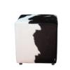 kuhfell hocker schwarz weiss h201 echt und dekorativ. Black Bedroom Furniture Sets. Home Design Ideas